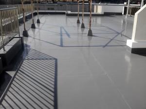 富士市 屋上防水工事(ウレタン防水密着工法)